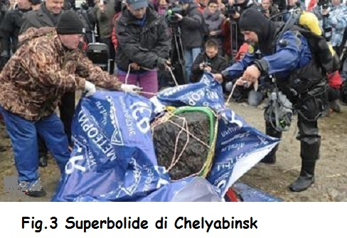 Fig.3 Superbolide di Chelyabinsk