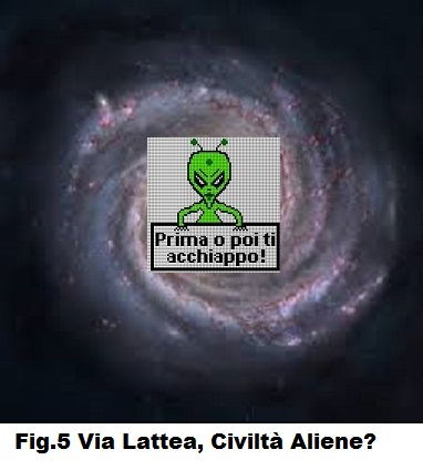 Fig.5 Via Lattea ... civiltà Aliene