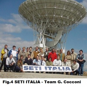 Fig. 4) SETI Italia-Team G. Cocconi